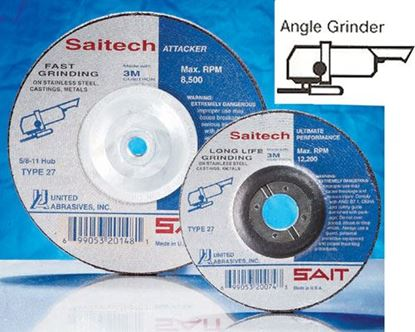 Picture of Grinding Wheel T27 Stainless Steel 4-1/2 X 1/4 X 7/8 / 20046