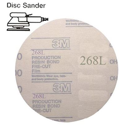 Picture of Microfinishing Film PSA Disc 5 30mic  (Stainless)   25/pack