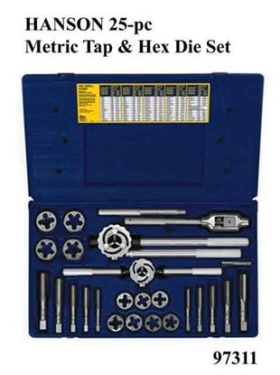 Picture of HANSON 25-pc Metric Tap & Hex Die Set / 97311