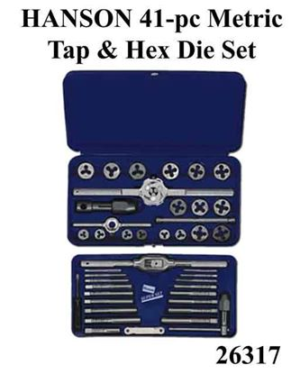Picture of HANSON 41-pc Metric Tap & Hex Die Set / 26317