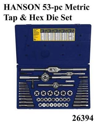 Picture of HANSON 53-pc Metric Tap & Hex Die Set / 26394