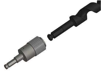 Picture of Quick Change Wood Auger Adapter 7/16M - 5/8F Hex