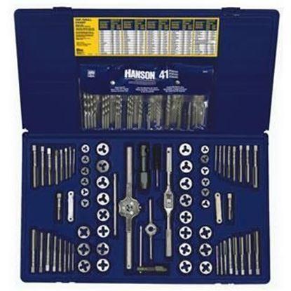 Picture of HANSON® 117-pc Machine Screw / Fractional / Metric Tap & Hex Die & Drill Bit Deluxe Set