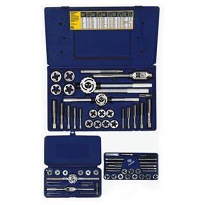 Picture of HANSON® 64-pc Machine Screw / Fractional Tap & Adjustable / Solid Round Die Set