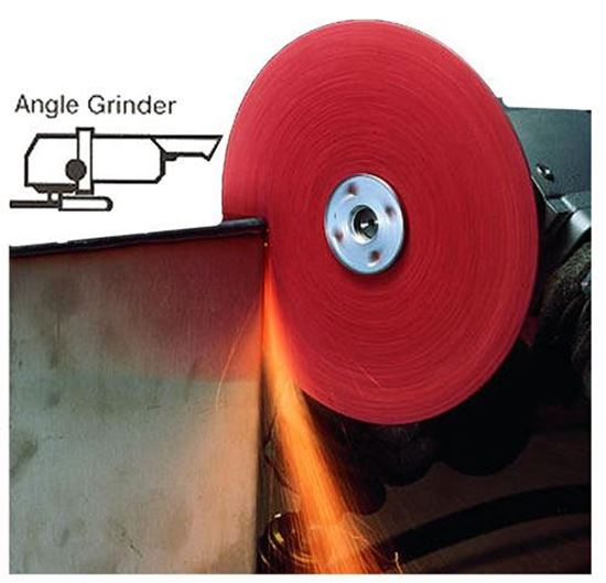 Picture of 3M™ Roloc™ Resin Fiber Disc - 5 X 7/8AH 100X  (Stainless)