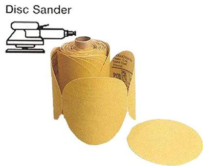 """Picture of Disc Roll PSA Gold 6"""" 80X / 100pc Roll"""