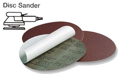Picture of Resin Bond Cloth PSA Disc 6 / 320X / 50pcs per box
