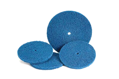 Picture of Scotch-Brite™ High Strength Discs - 8 x 1/2 - Medium - Blue (32518)