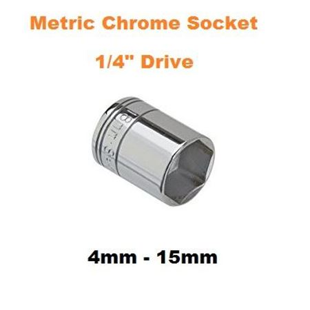 "Picture for category Metric Chrome Socket  1/4""Drive"